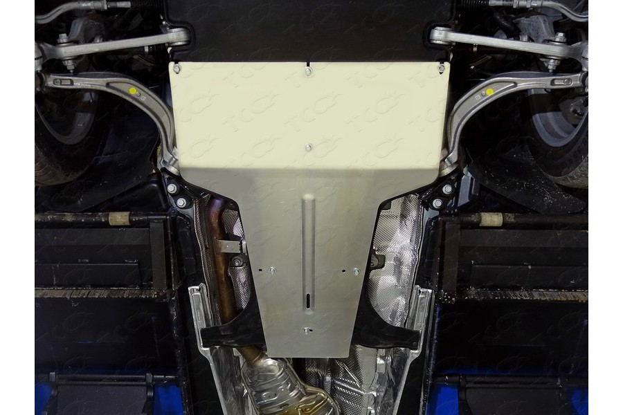 Защита КПП и раздаточной коробки (алюминий) 4 мм