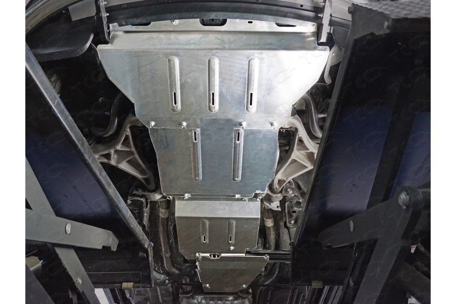Защиты комплект (алюминий) 4мм (радиатор, картер, кпп, рк, бак)