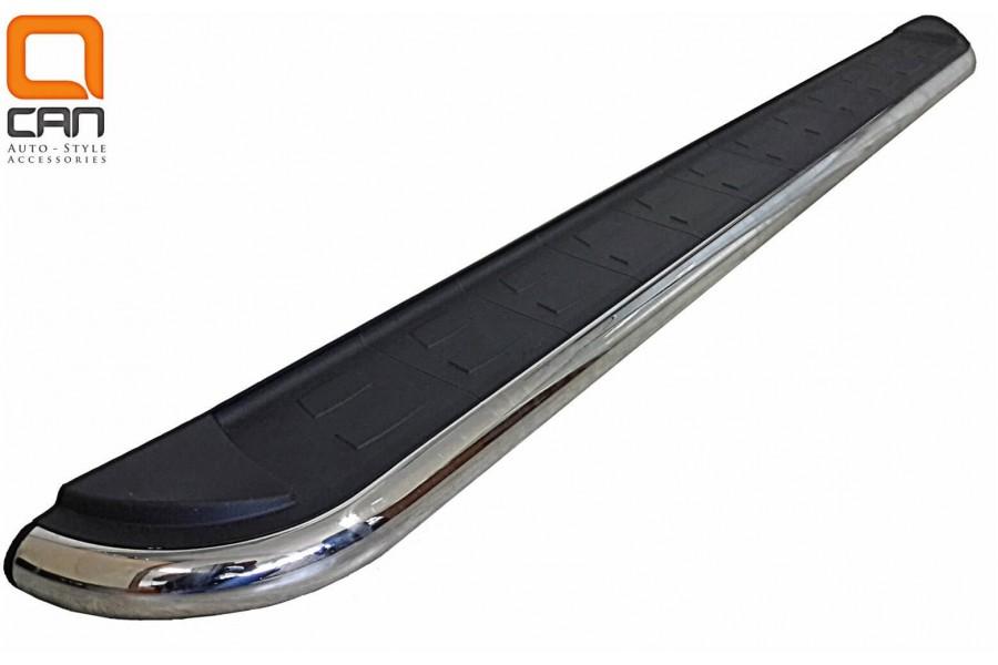 Пороги алюминиевые (Ring) Chevrolet Captiva (Шевроле Каптива) (2006-2010-)/Opel Antara (Опель Антара) (2006-2010-)