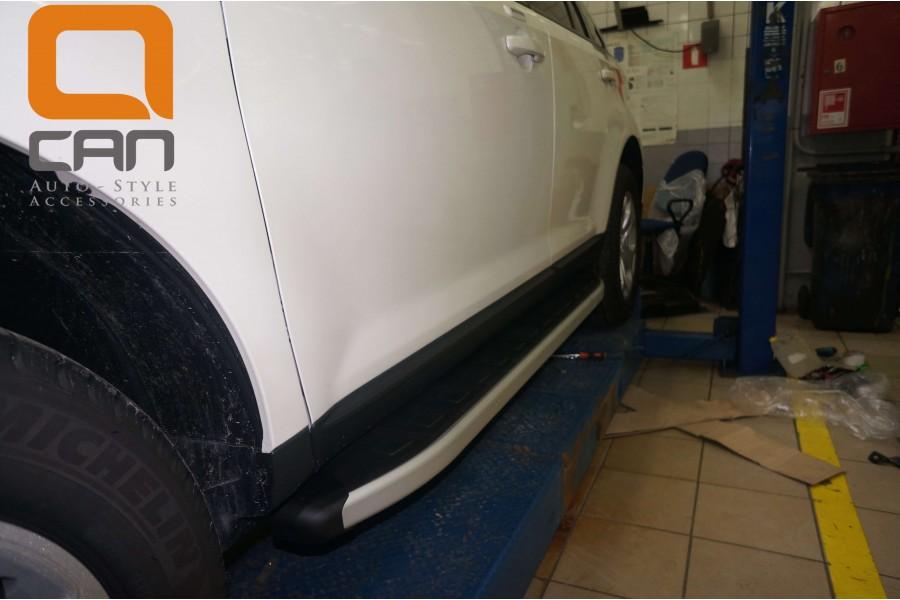 Пороги алюминиевые (Alyans) Ford Edge (2014-)