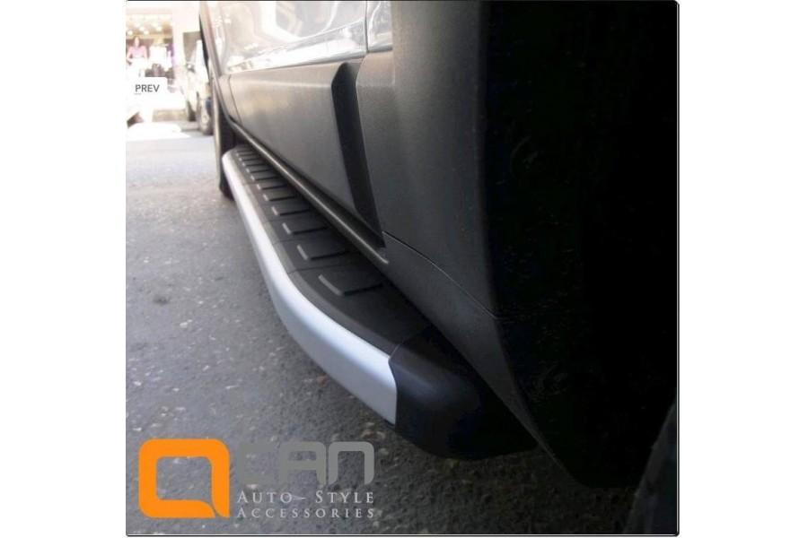 Пороги алюминиевые (Alyans) Hyundai Santa Fe (Хёндай Санта Фе) (2006-2010-2012) кроме Тагаз