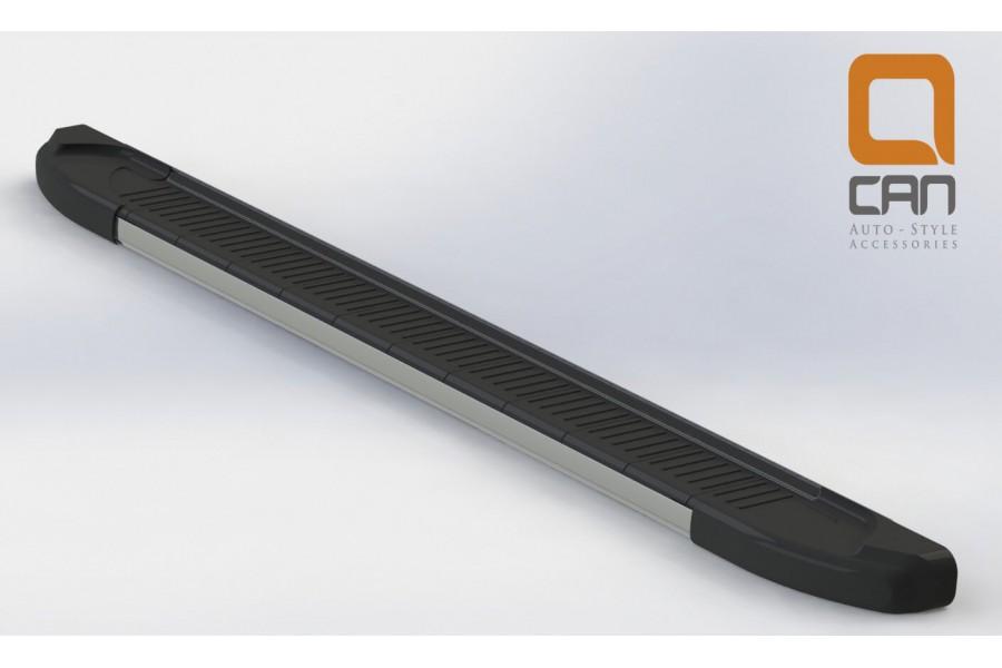 Пороги алюминиевые (Onyx) Nissan Juke (2011-)