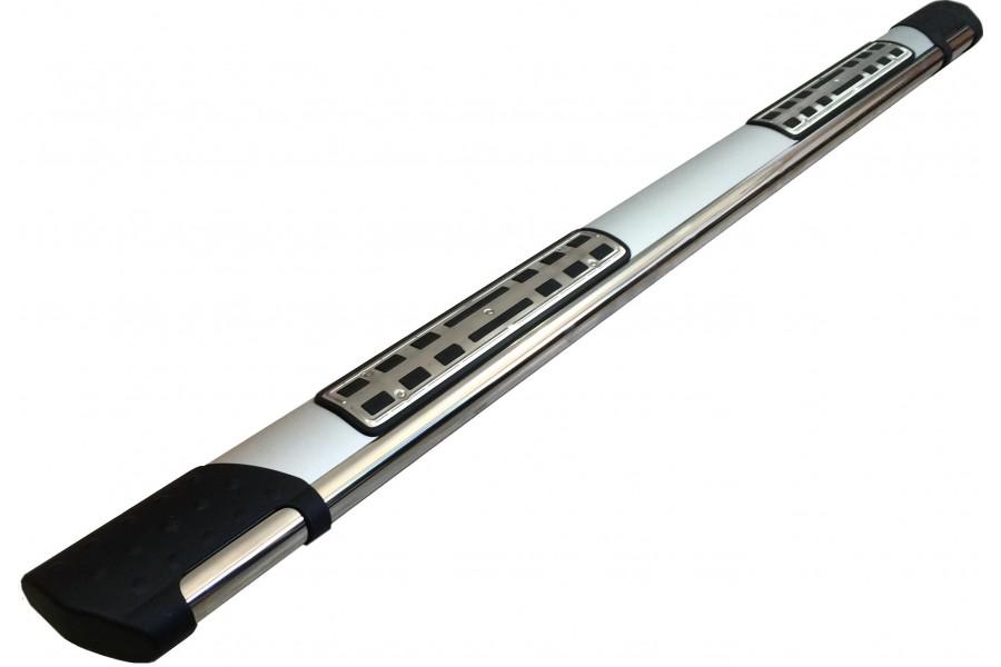 Пороги алюминиевые (Emerald silver ) Suzuki Sх4 (2014-)